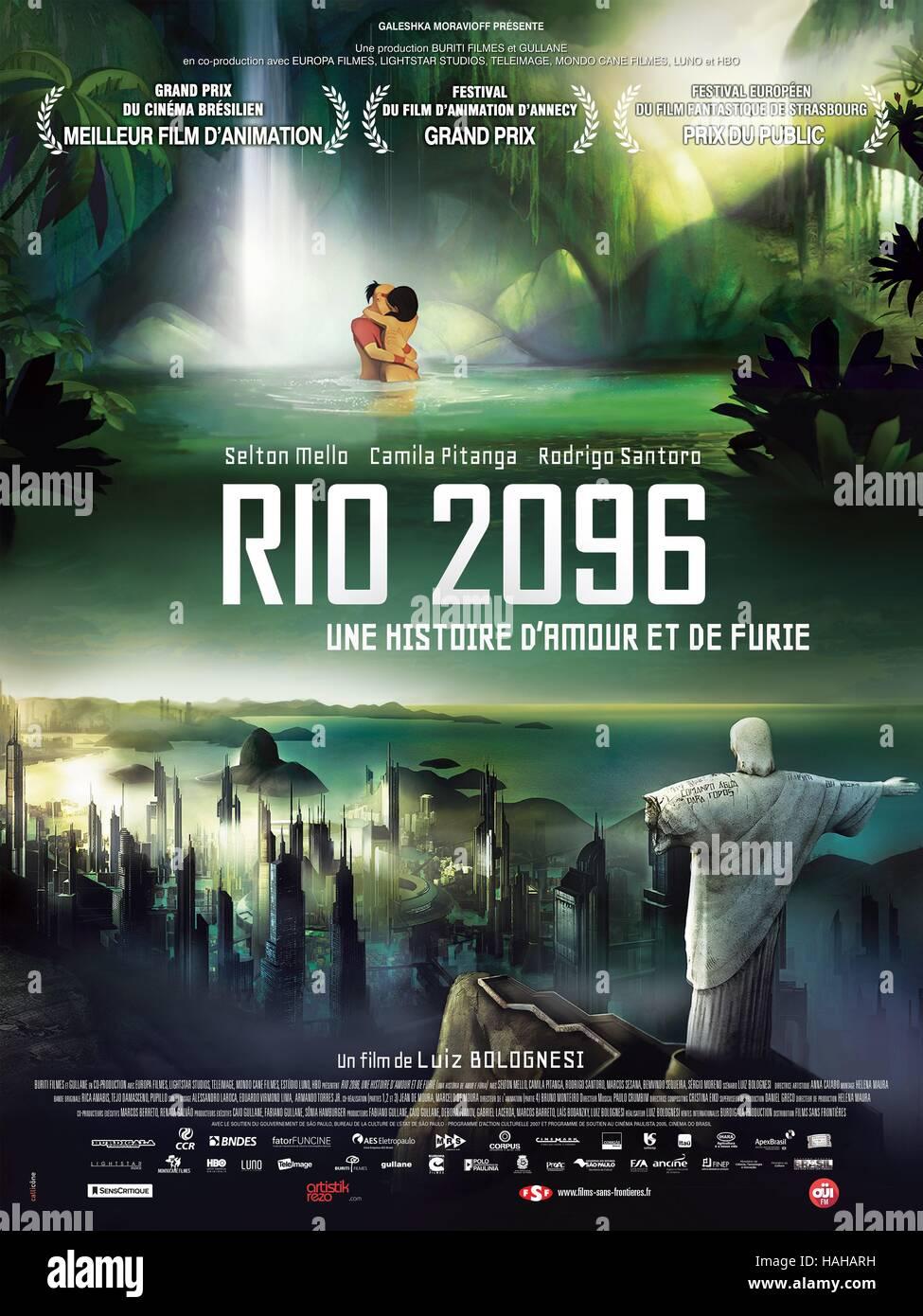 Uma Historia de Amor e Furia Rio 2096: A Story of Love and Fury Year : 2013  Brazil Director : Luiz Bolognesi Animation Movie poster (Fr)