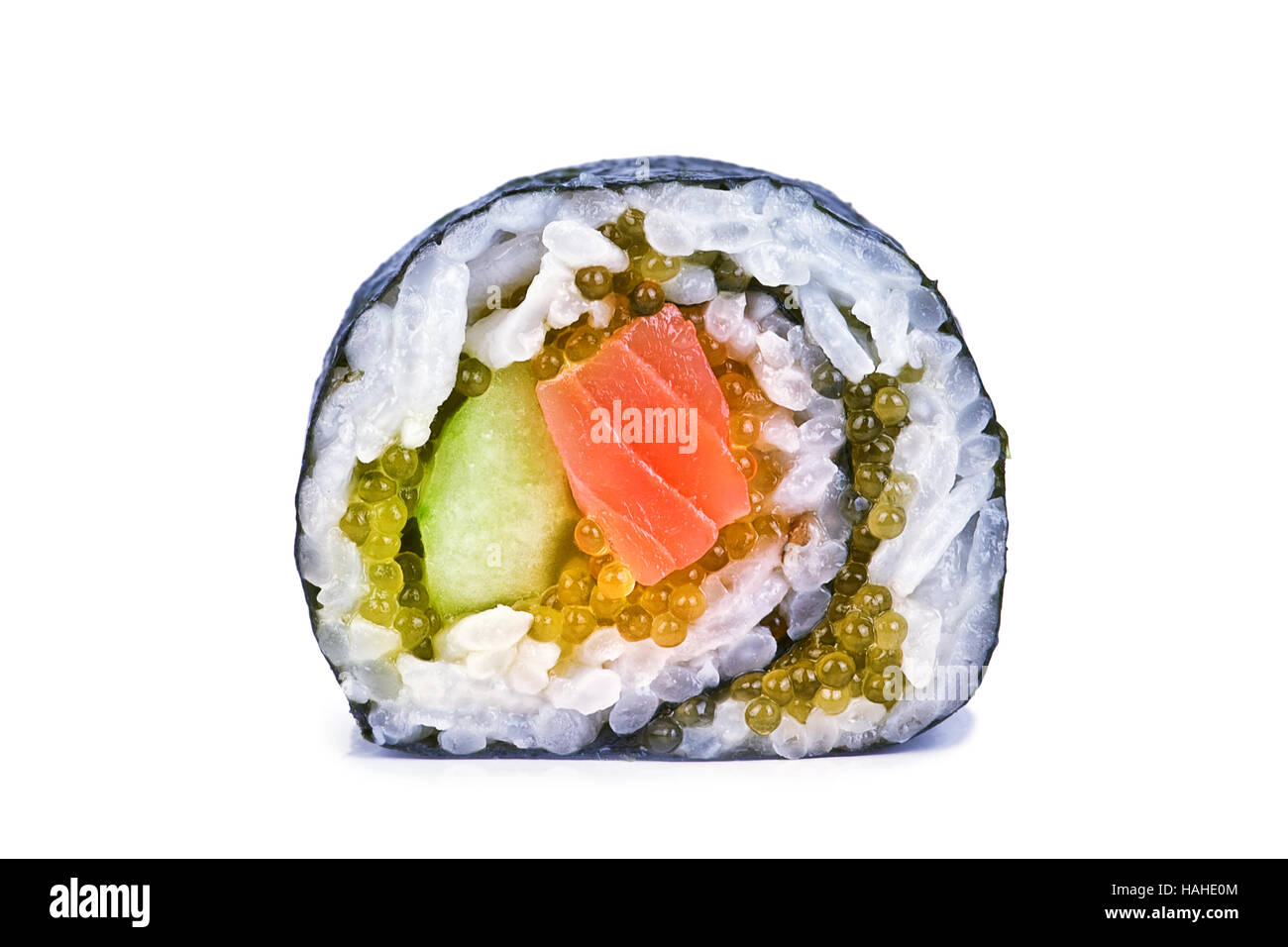 sushi roll isolated on white - Stock Image