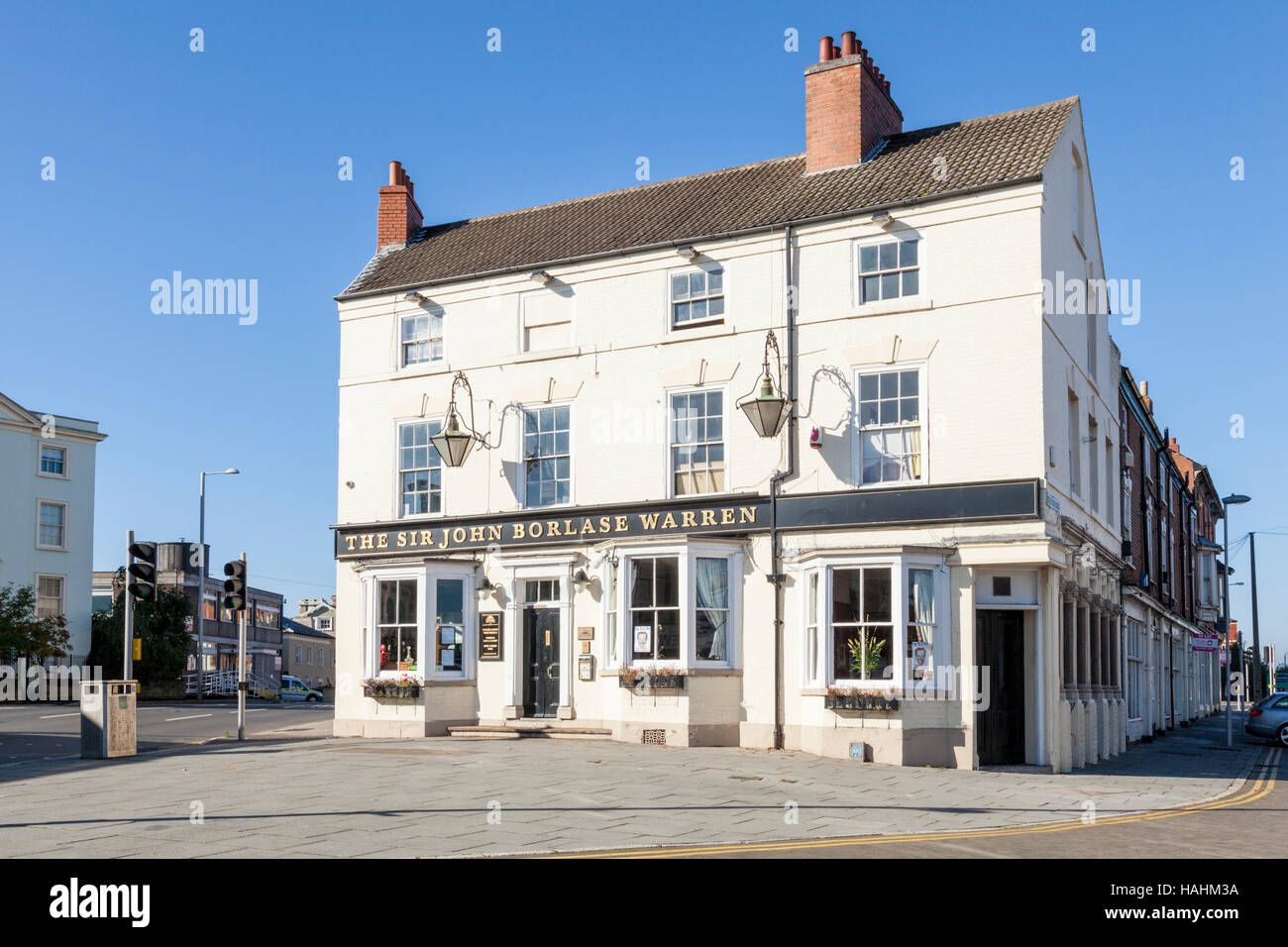 The Sir John Borlase Warren pub in Nottingham, England, UK - Stock Image