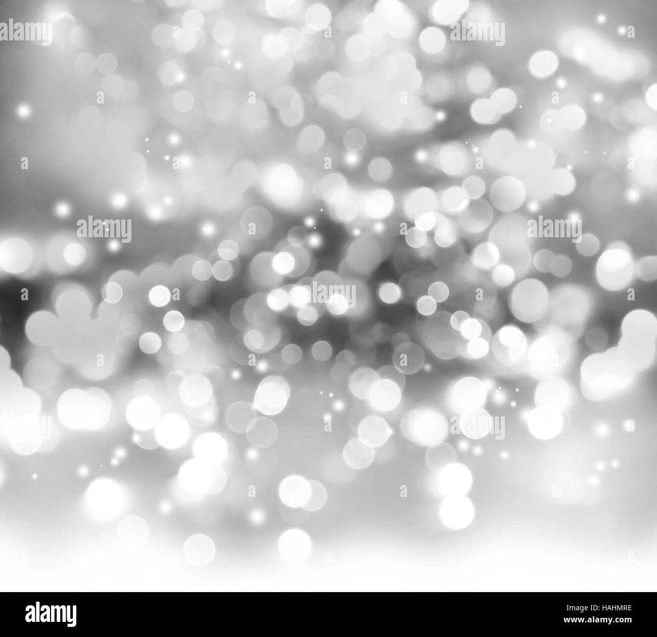 Gray and white circles abstract defocused bokeh background Stock Photo
