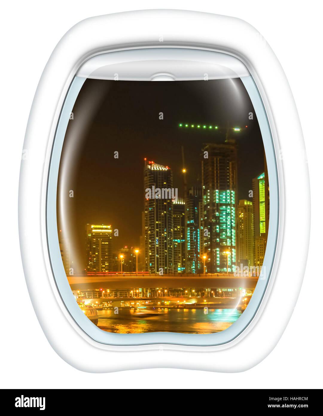 Dubai Marina Scenic flight - Stock Image