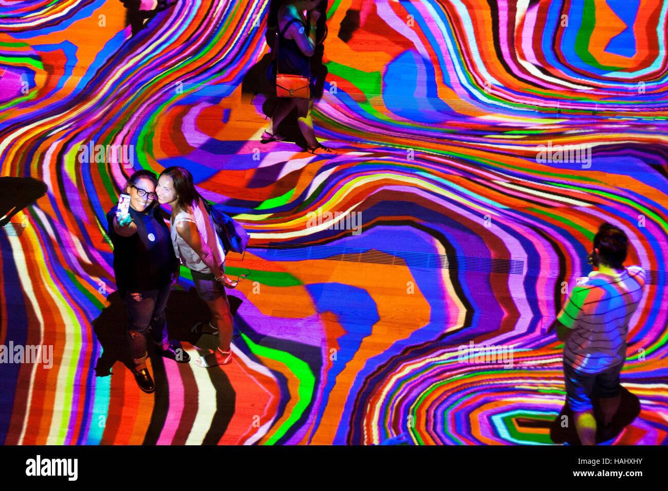 Onde Pixel Installation Of Miguel Chevalier Milan Lombardy