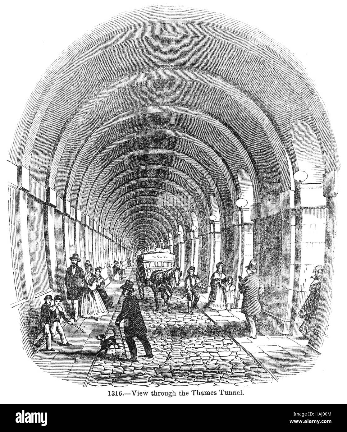 THAMES TUNNEL AT ROTHERHIDE built 1825-1843 Stock Photo