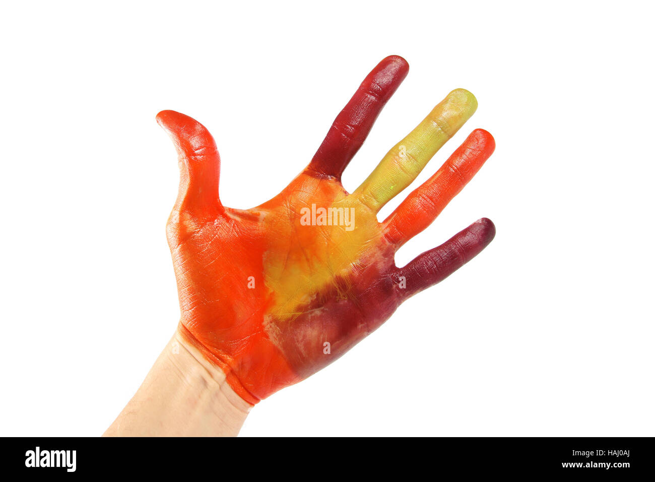 Hand painted in colorful colors - Stock Image