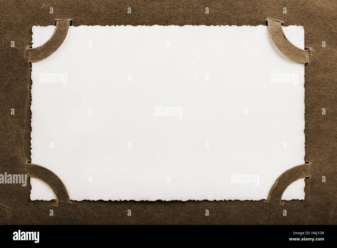 Vintage Photo Album Page With Blank Picture Stock Photo 127015428