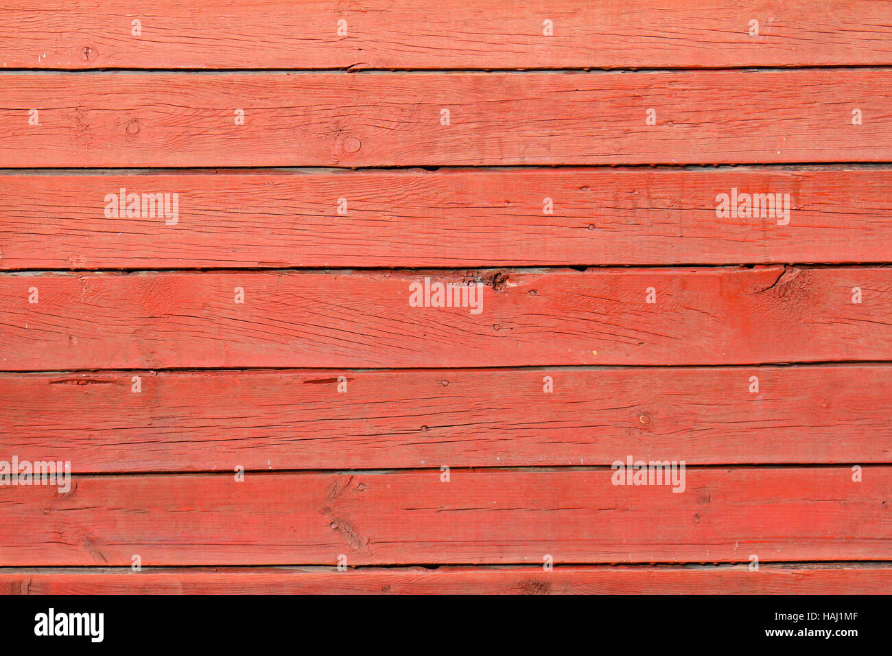 texture of red wood planks - Stock Image