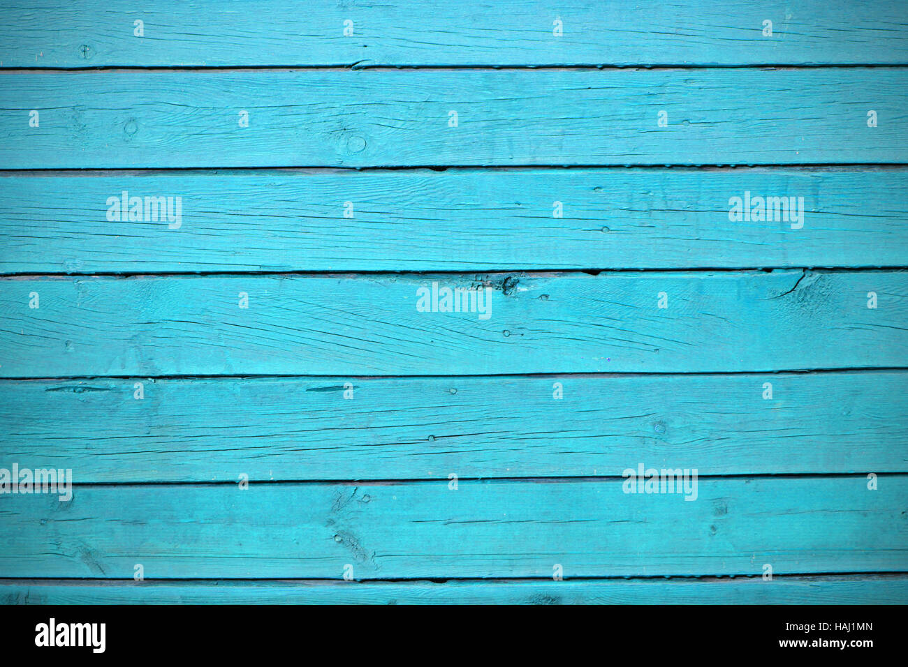 texture of blue wood planks - Stock Image