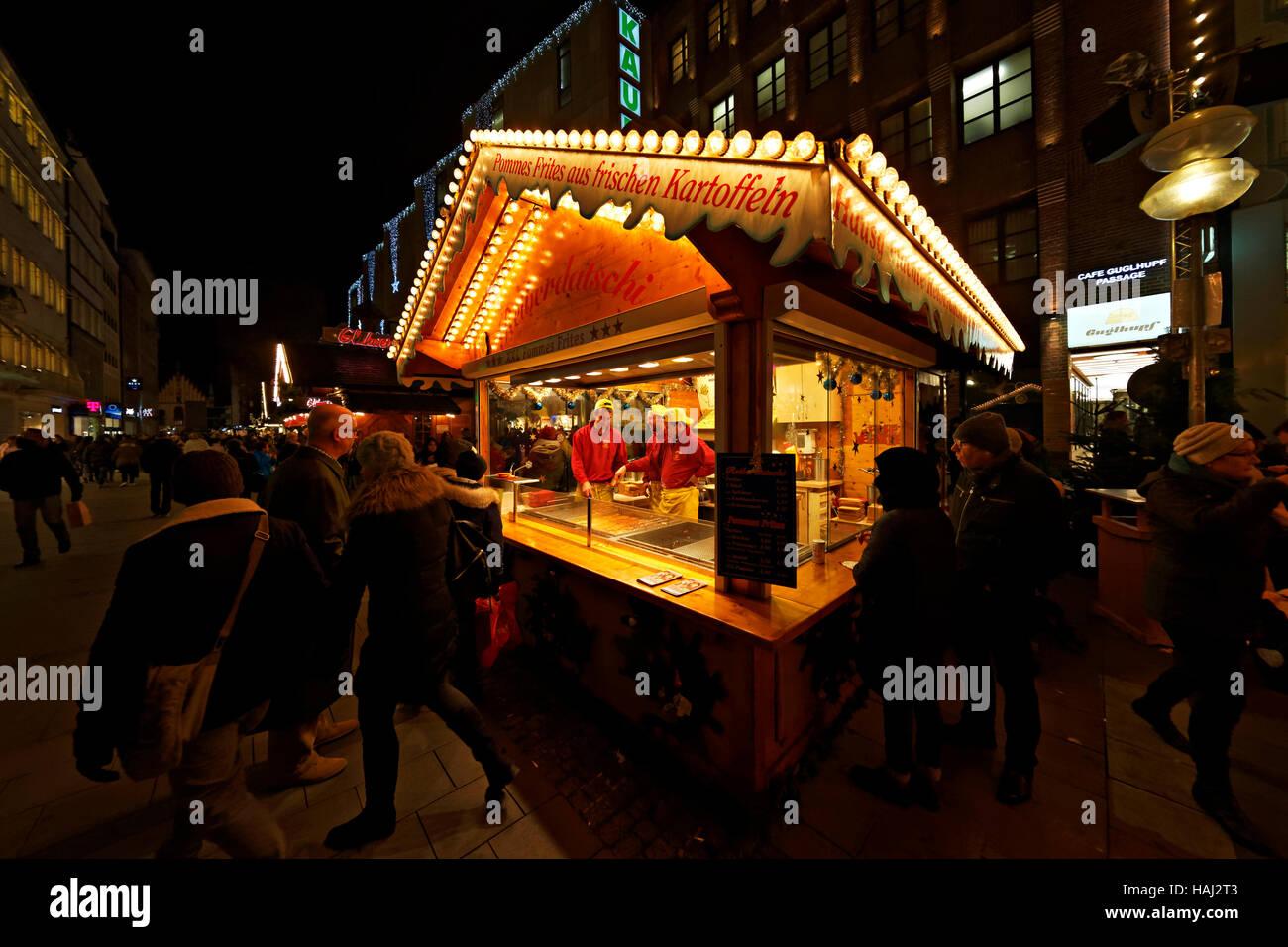 German Christmas markets, Munich, Upper Bavaria, Germany, Europe - Stock Image