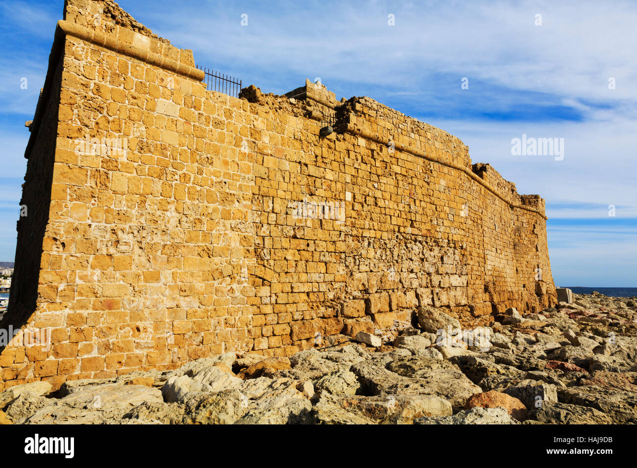 Paphos castle from the sea, Cyprus - Stock Image