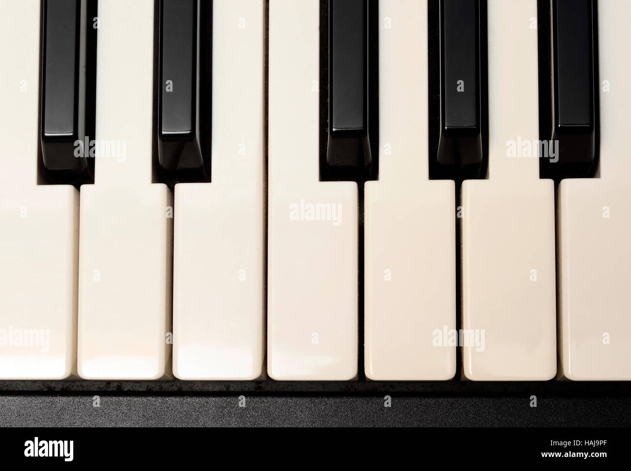 Close up of Piano and electric piano keyboard - Stock Image