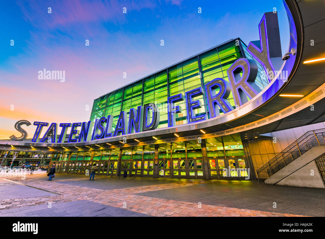 NEW YORK CITY - OCTOBER 29, 2016: The Staten Island Ferry terminal in Lower Manhattan. - Stock Image