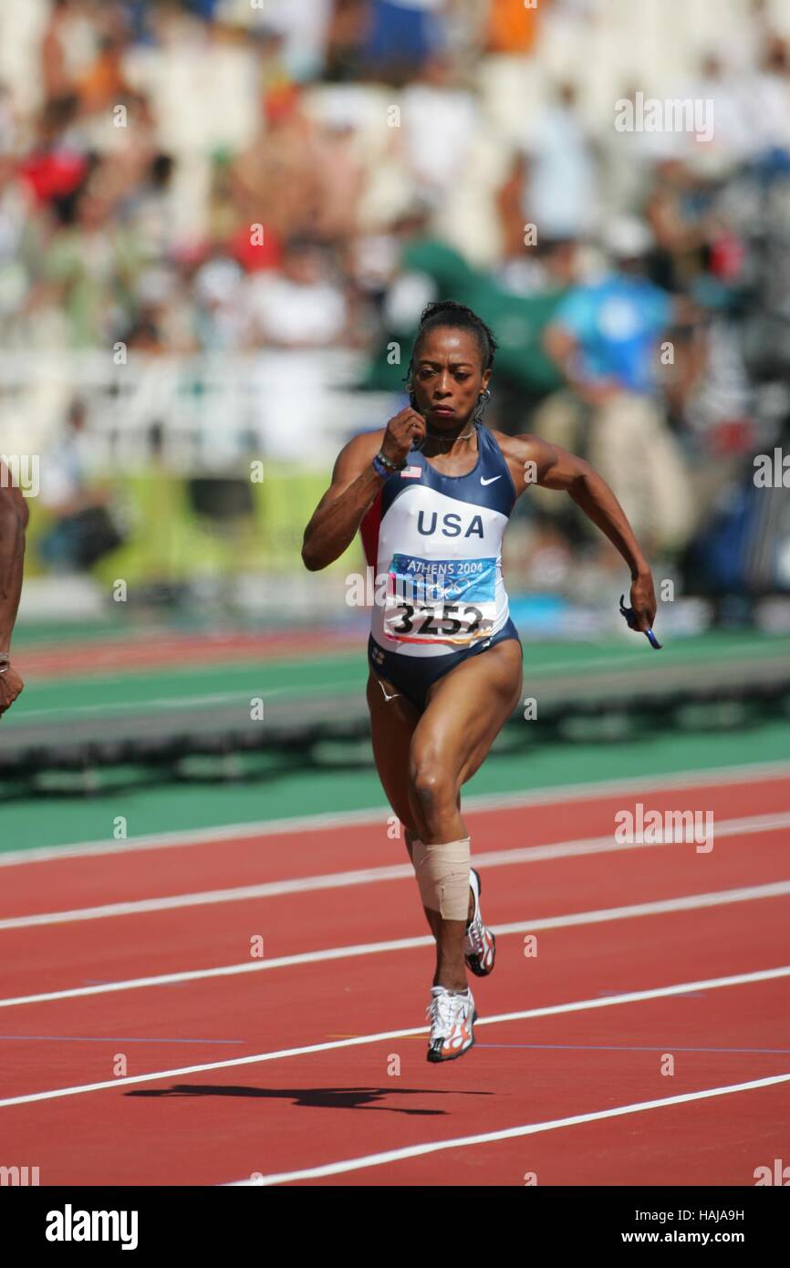 GAIL DEVERS USA ATHENS GREECE 19 August 2004 - Stock Image