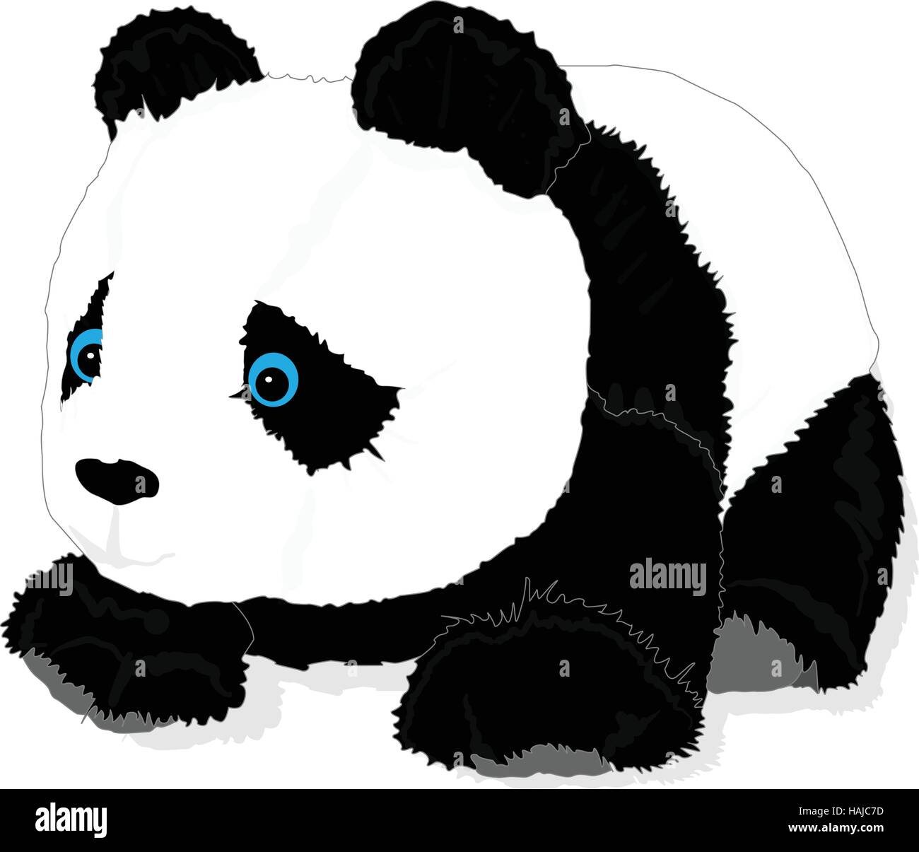 cute panda toy vector isolated - Stock Vector