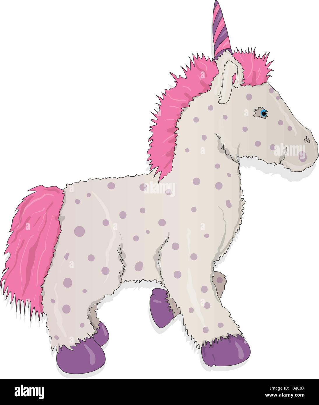 Unicorn. Vector illustration isolated - Stock Vector