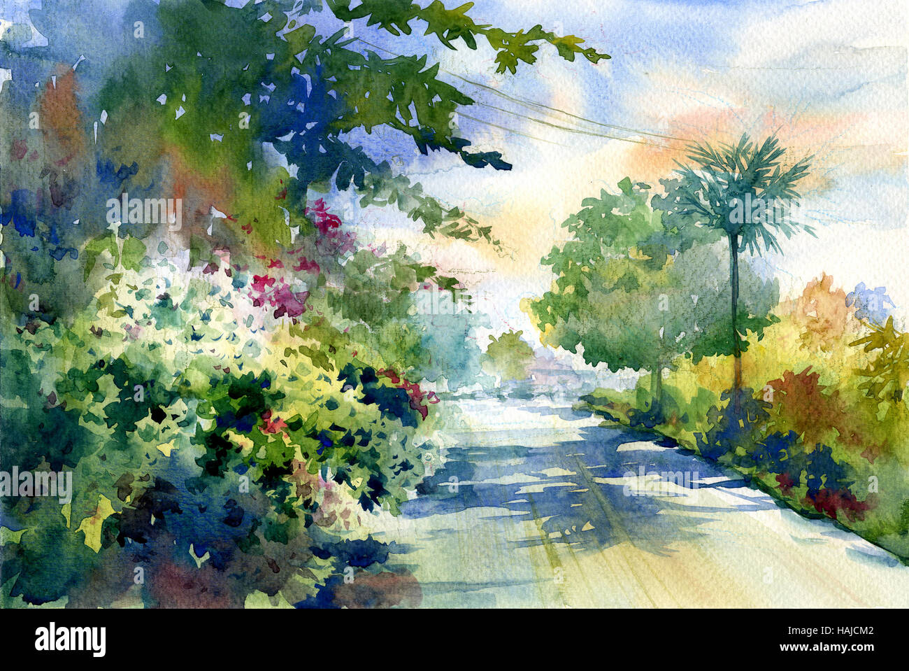 Road Painting High Resolution Stock Photography And Images Alamy