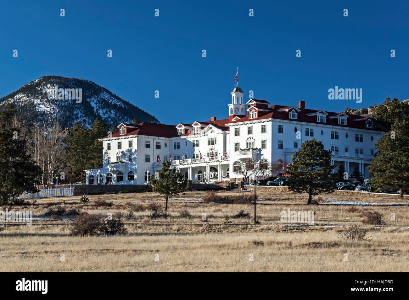 The Stanley Hotel, Estes Park, Colorado USA - Stock Image