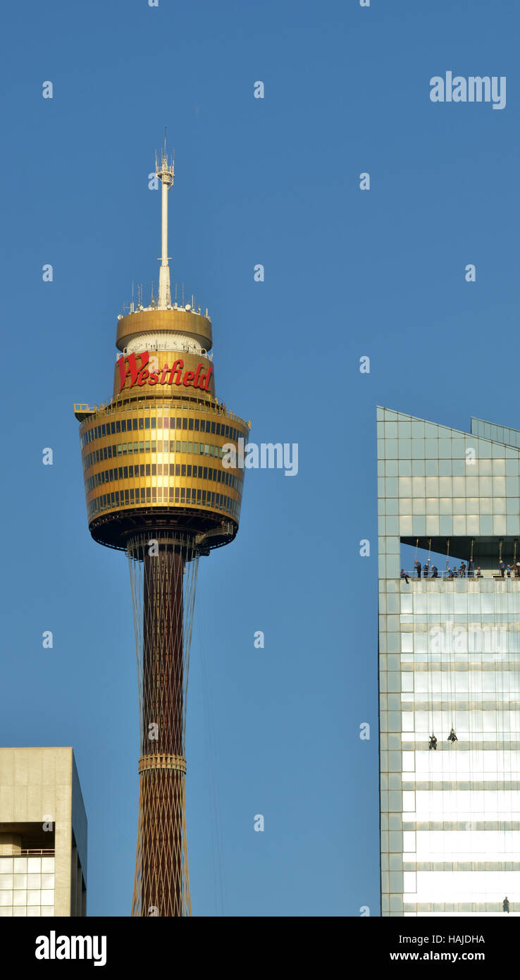 SYDNEY - OCT 20 2016: Sydney Tower, Sydney's tallest structure and the second tallest observation tower in the - Stock Image