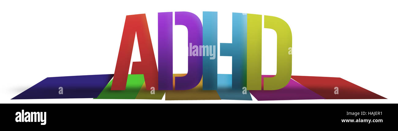ADHD Colorful - Stock Image