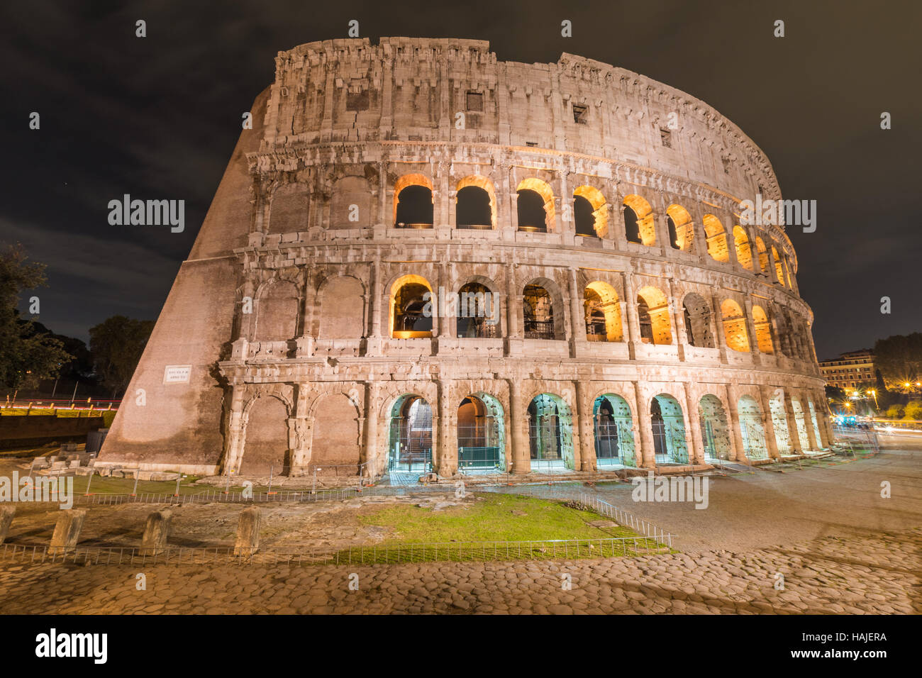 Rome, Italy - The archeological area in historic center - Stock Image