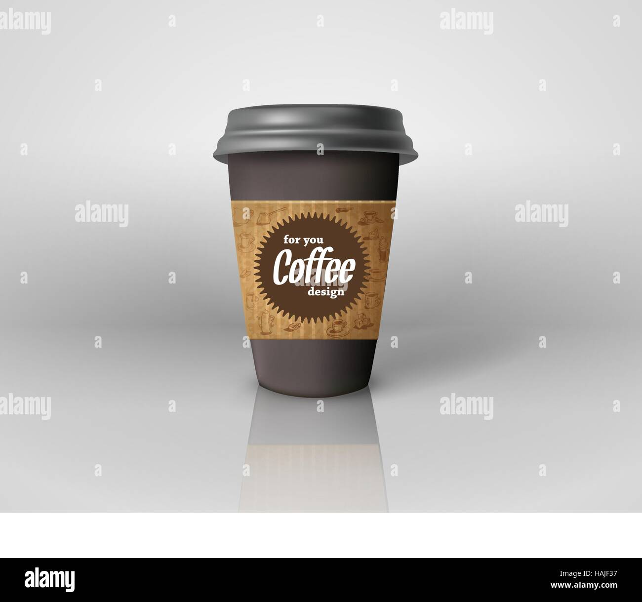 coffee cup template illustration with the sweet and fun party design