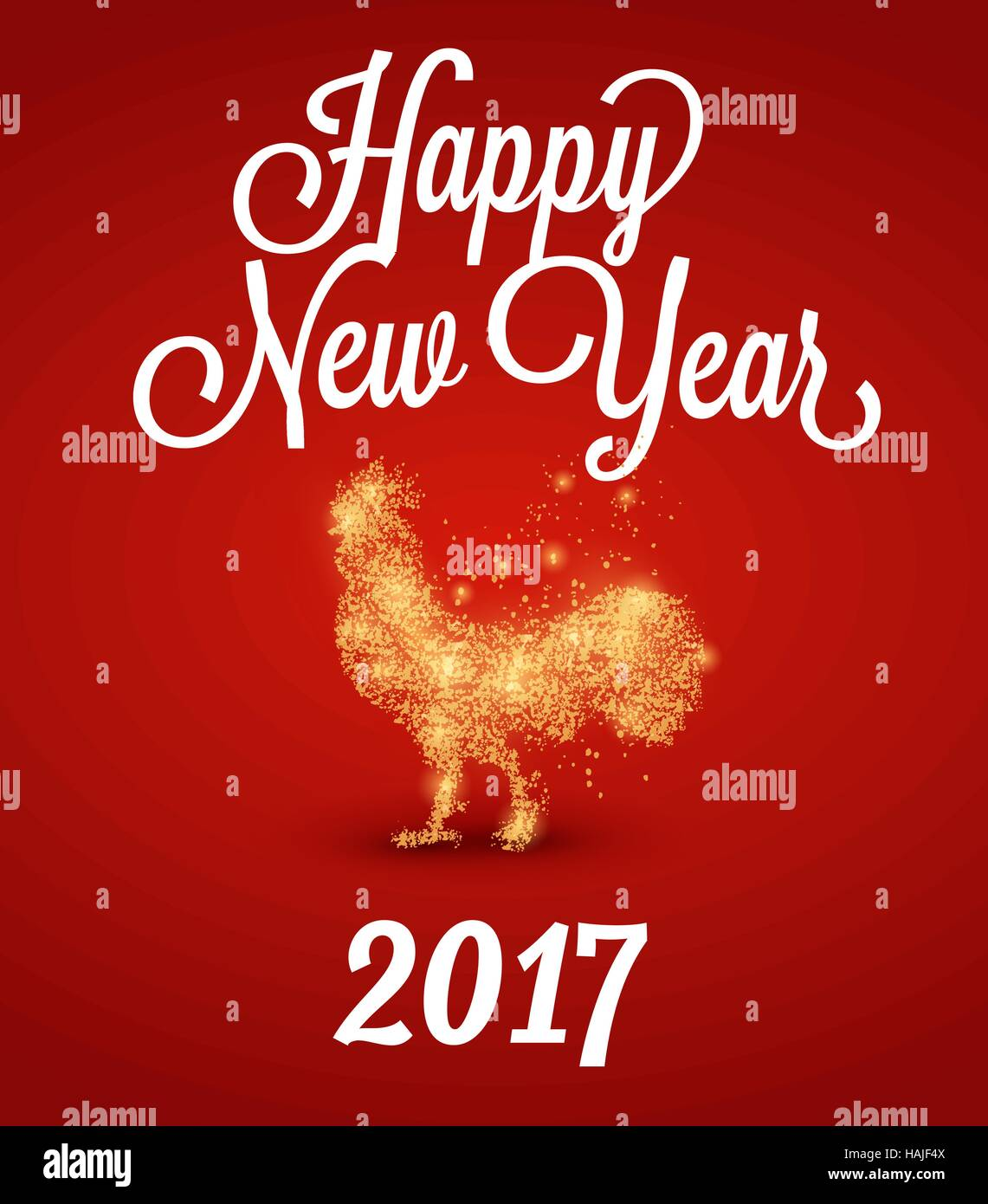 Fire Rooster 2017 The Symbol Of The Chinese New Year 2017 Particle