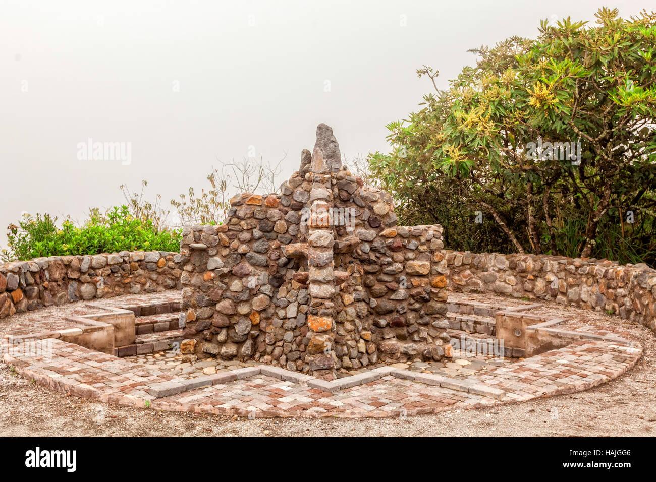 Detail Of Ancient Inca Bathroom In Laguna Cuiucocha, Cotacachi, Ecuador, South America Stock Photo
