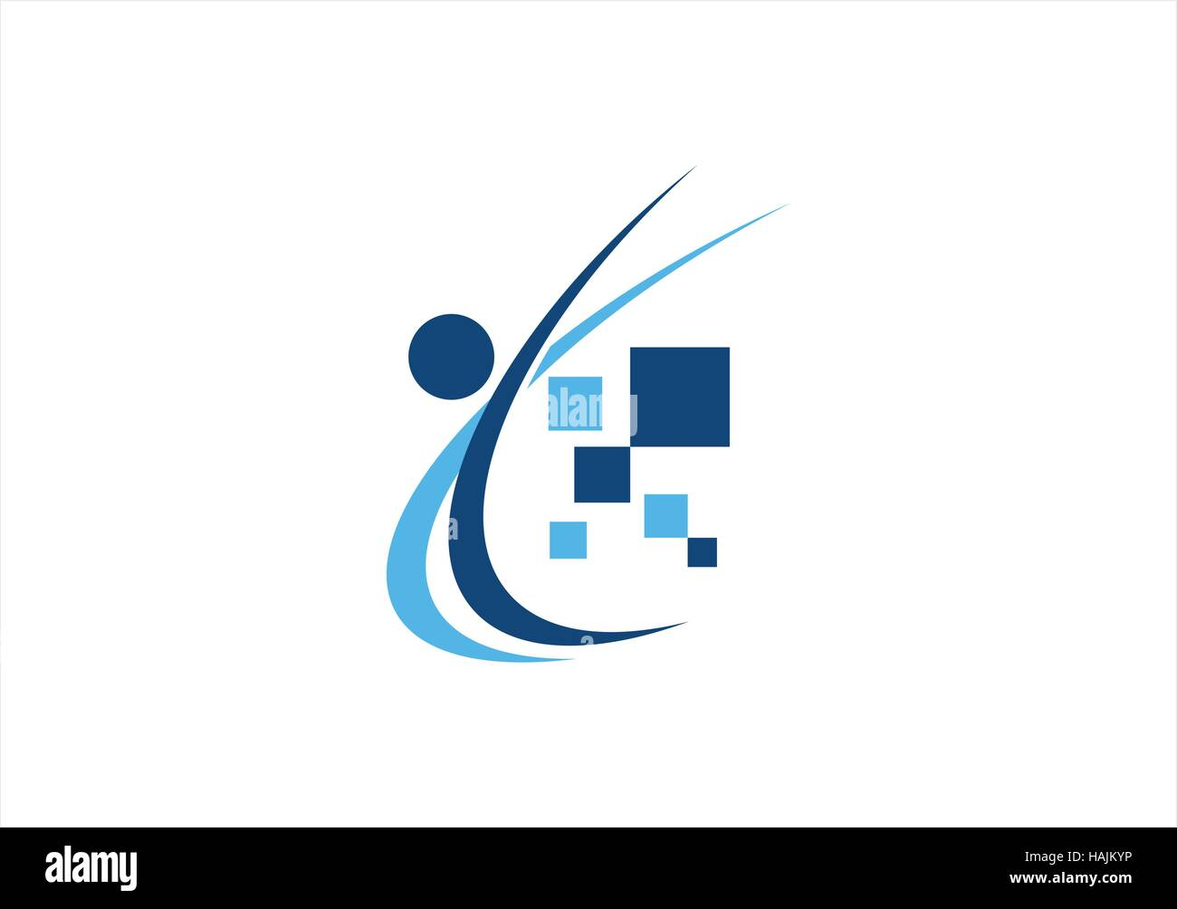 abstract people education logo, computing data illustration symbol icon vector design Stock Vector