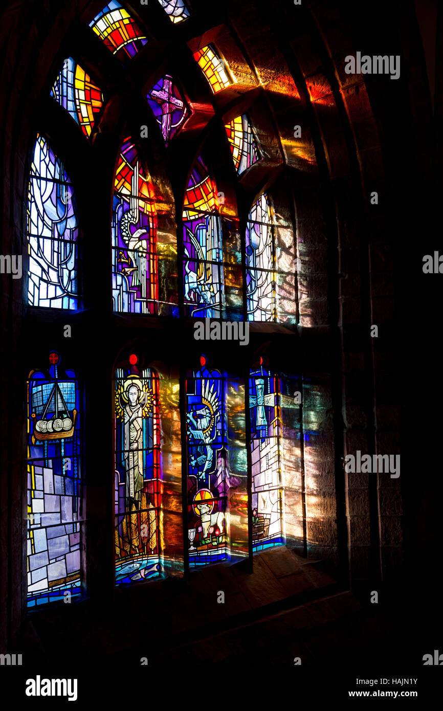 St Magnus cathedral west window, Kirkwall - Stock Image