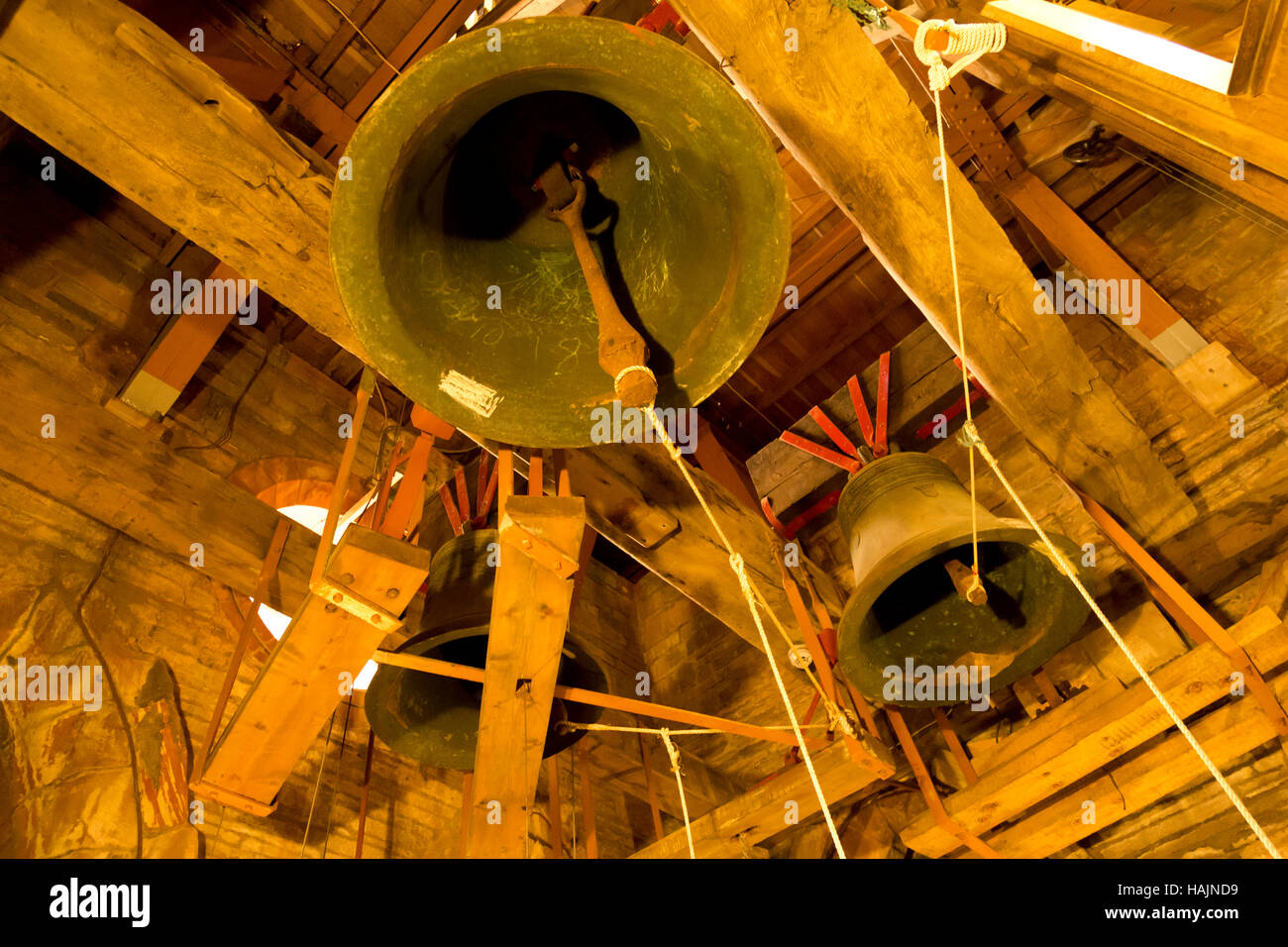 St Magnus Cathedral bells, Kirkwall, Orkney - Stock Image