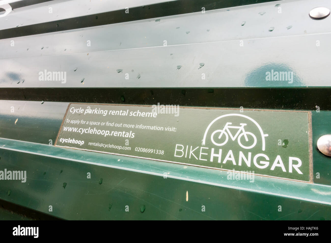 A Bike Hangar, Or Street Secure Storage Rental Scheme For Bicycles In  Waltham Forest, London