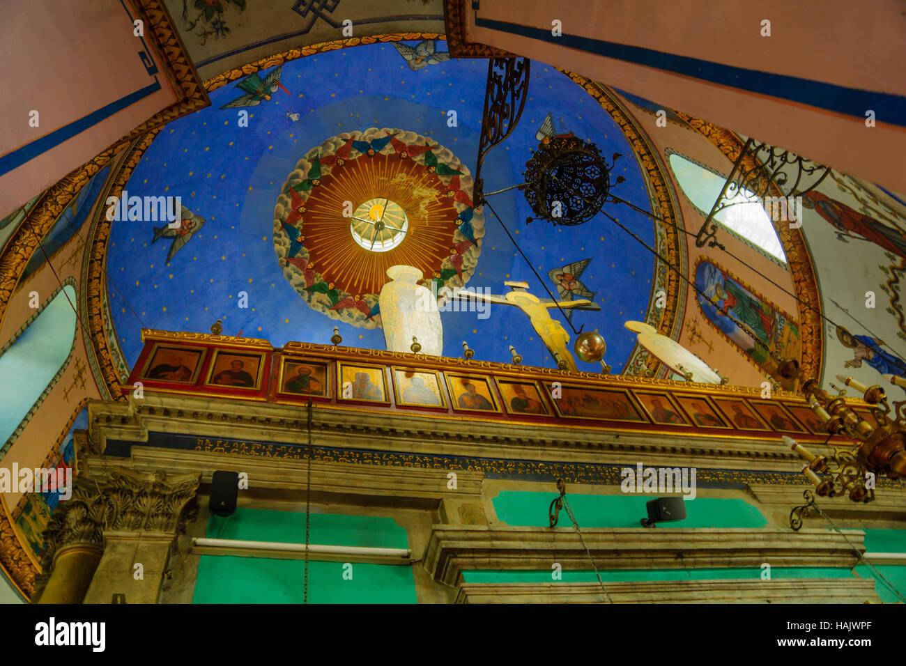 JERUSALEM, ISRAEL - SEPTEMBER 23, 2016: The dome of the Ethiopian Orthodox Tewahedo Church, in Jerusalem, Israel - Stock Image