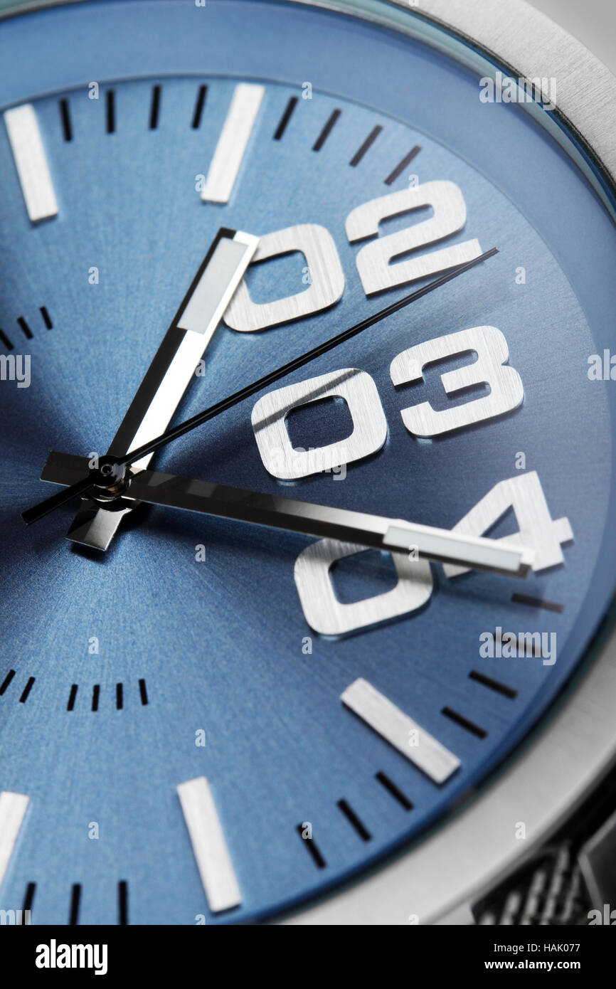macro shot of watch face detail - Stock Image