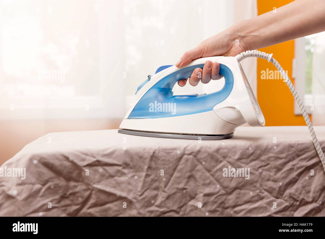 JULIET: Ironing clothes
