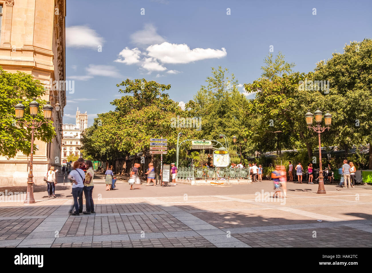 Place Louis Lepine on the Ile de la Cite. - Stock Image