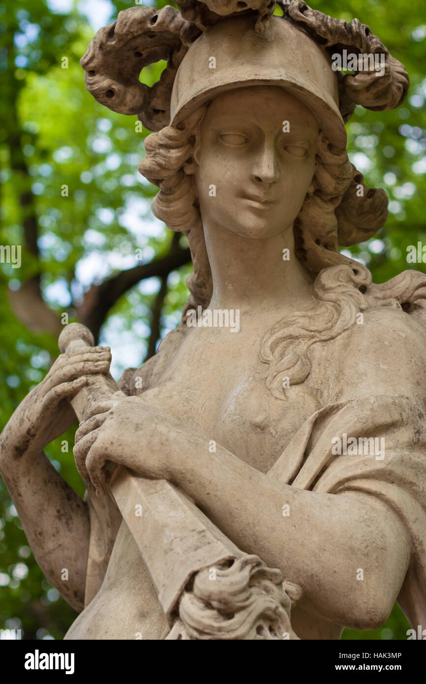 Sculpture of the Bellona was an Ancient Roman goddess of war in the ...