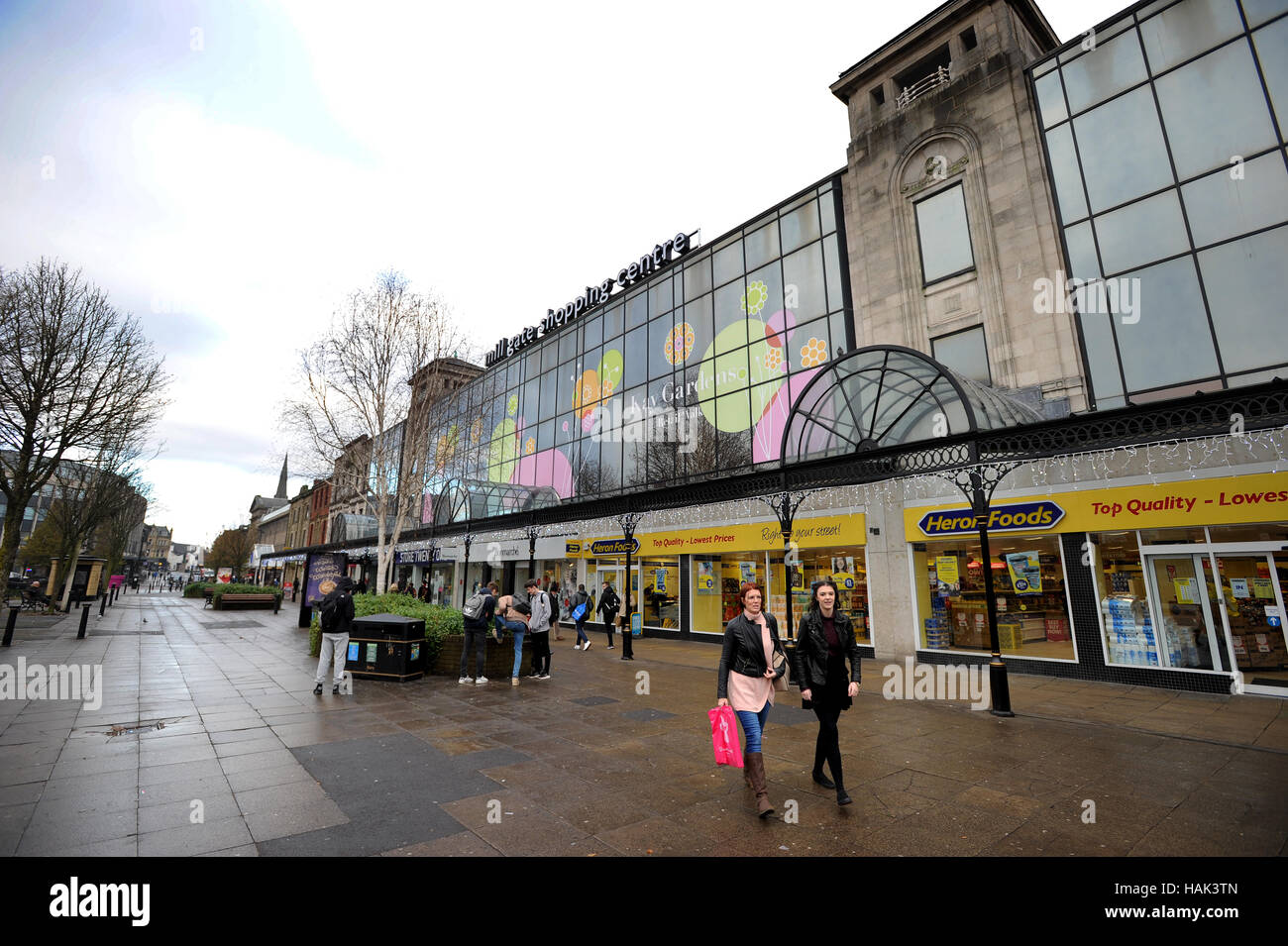 Millgate Shopping Centre,  Bury, Lancashire. Picture by Paul Heyes, Thursday December 01, 2016. - Stock Image