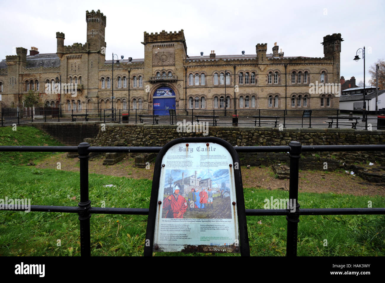 Castle Barracks and Armoury,  Bury, Lancashire. Picture by Paul Heyes, Thursday December 01, 2016. - Stock Image