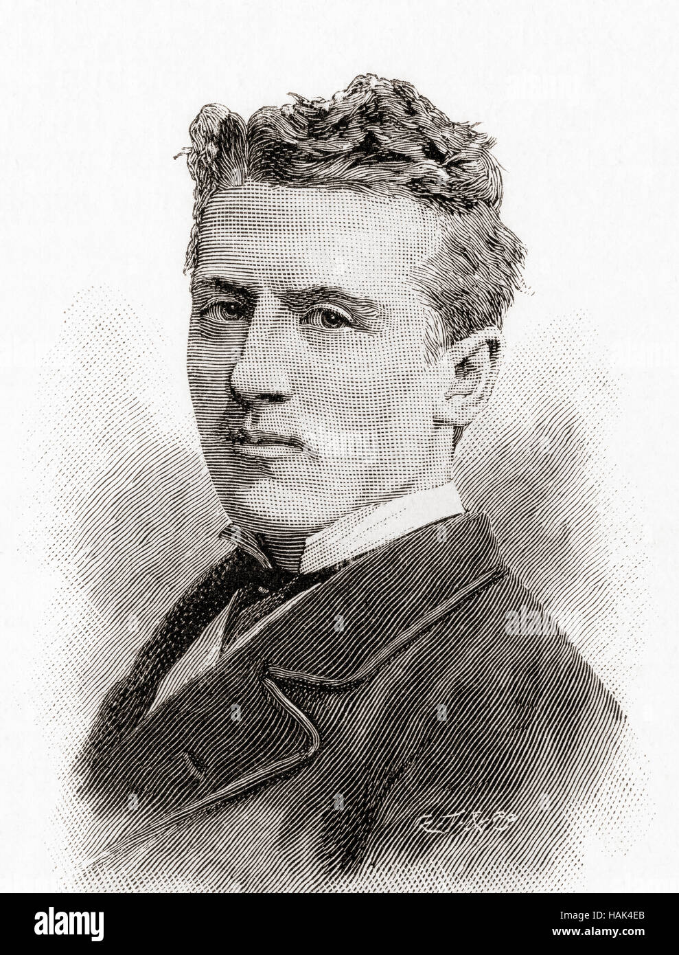 Wilson Barrett, born William Henry Barrett, 1846 – 1904.  English manager, actor, and playwright.   From The Strand - Stock Image