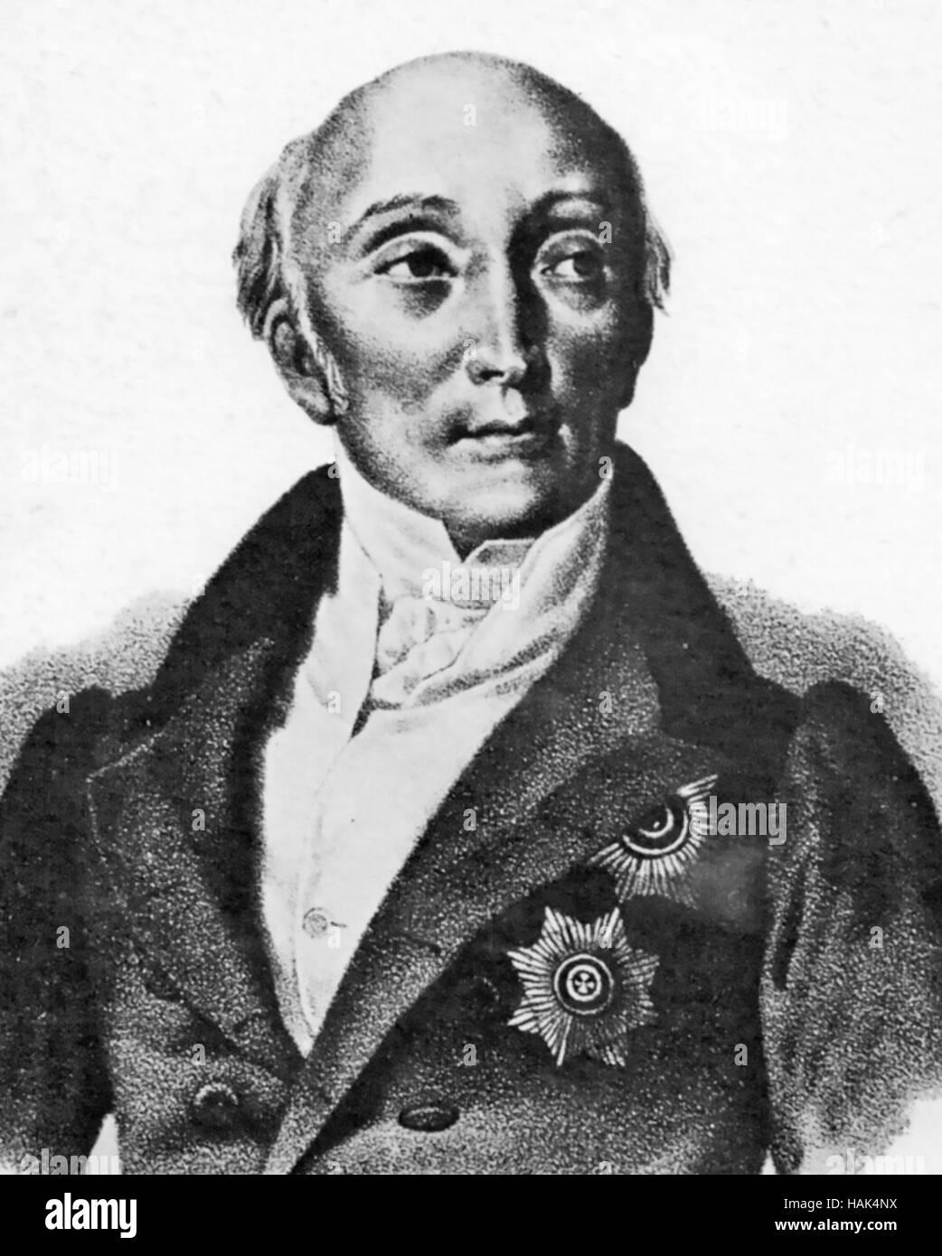 MIKHAIL SPERANSKY (1772-1839) Russian reformist Stock Photo