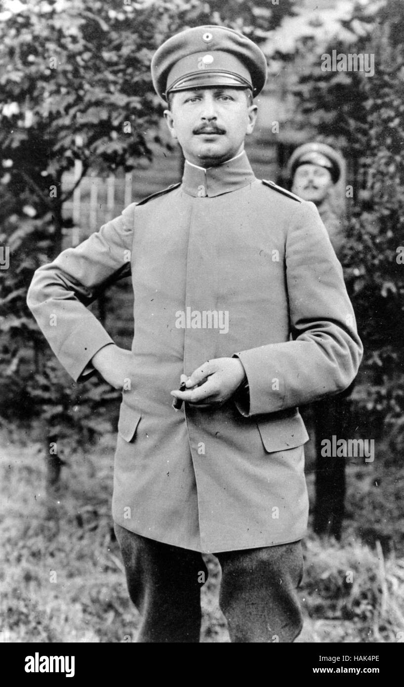 WW1  Unidentified German officer - Stock Image