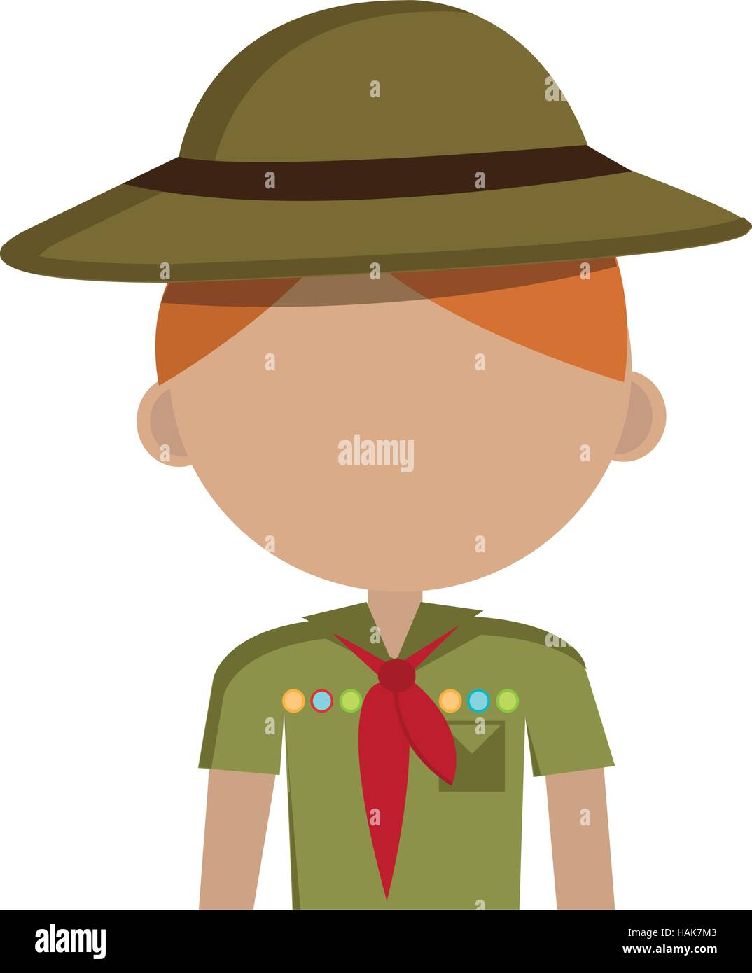 little scout character icon vector illustration design - Stock Vector