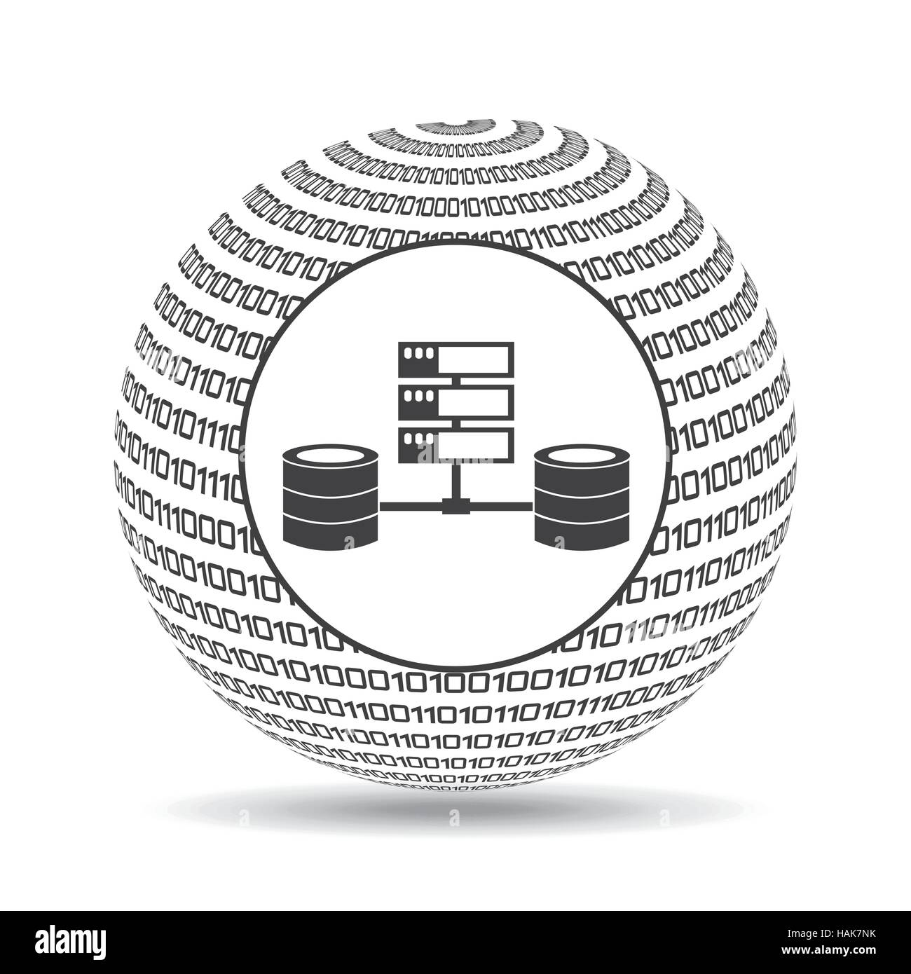 globe binary concept data system vector illustration eps 10 - Stock Image