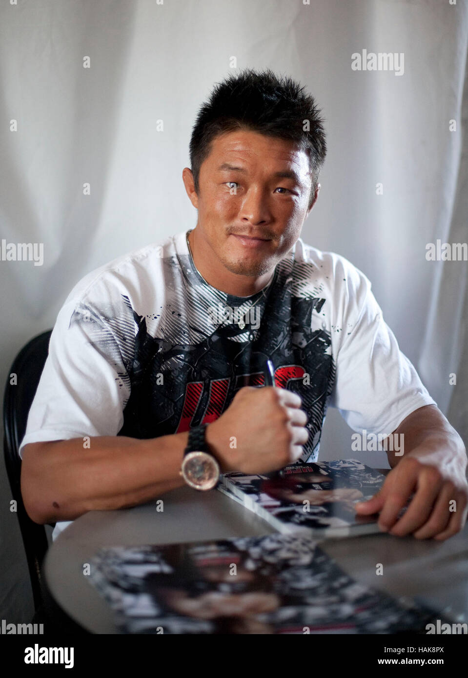 UFC fighter Yoshihiro Akiyama in Los Angeles, California on October 23, 2009. Photo by Francis Specker - Stock Image