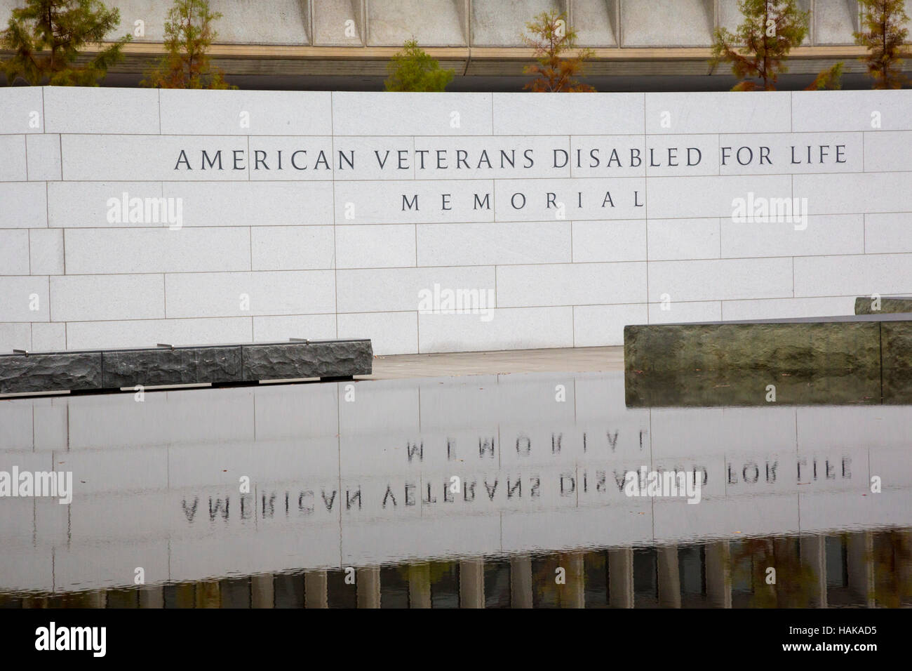 Washington, DC - The American Veterans Disabled for Life Memorial. - Stock Image