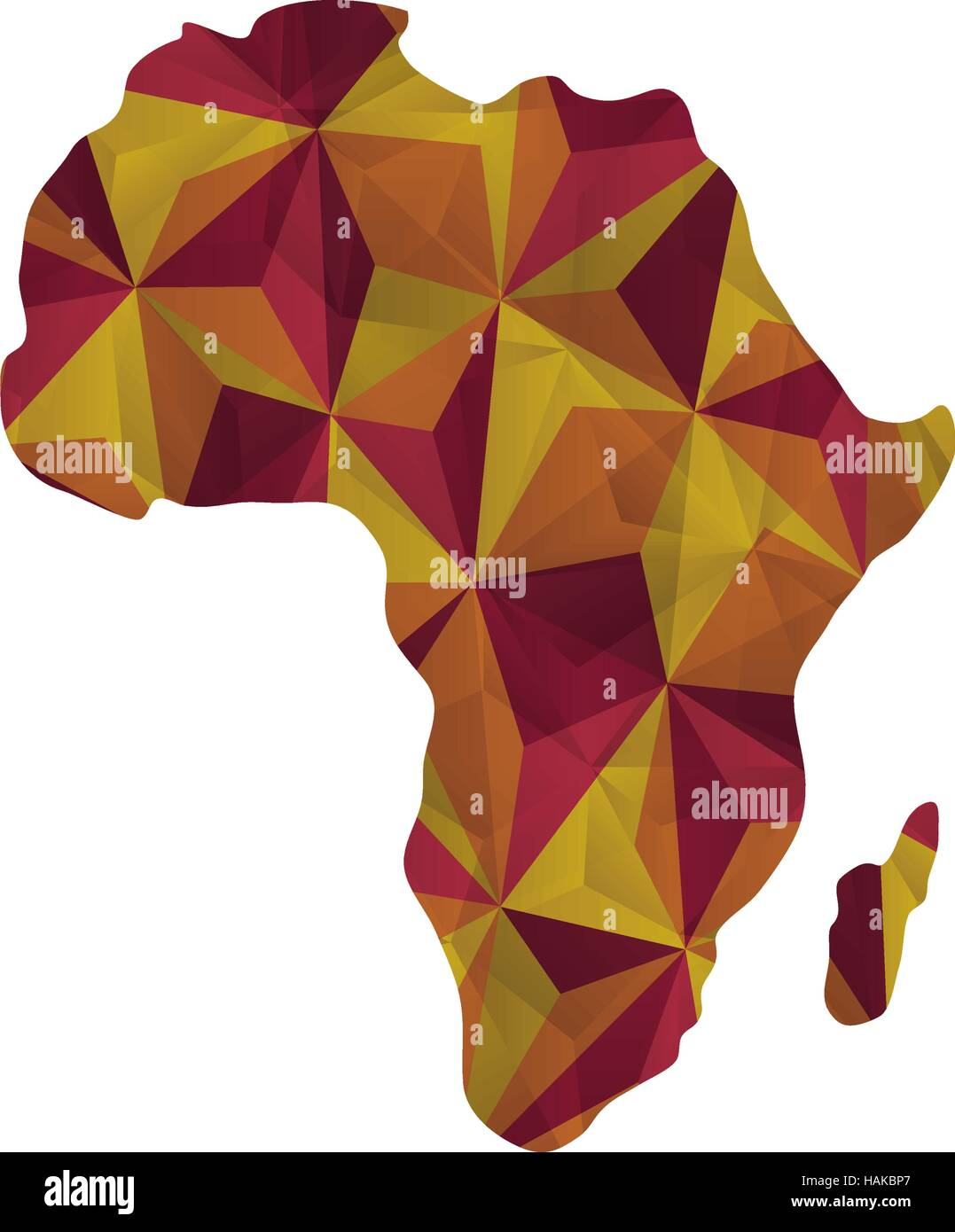 Africa map silhouette icon vector illustration graphic design Stock