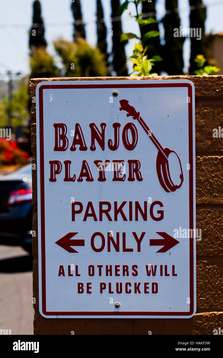 Banjo joke - Stock Image