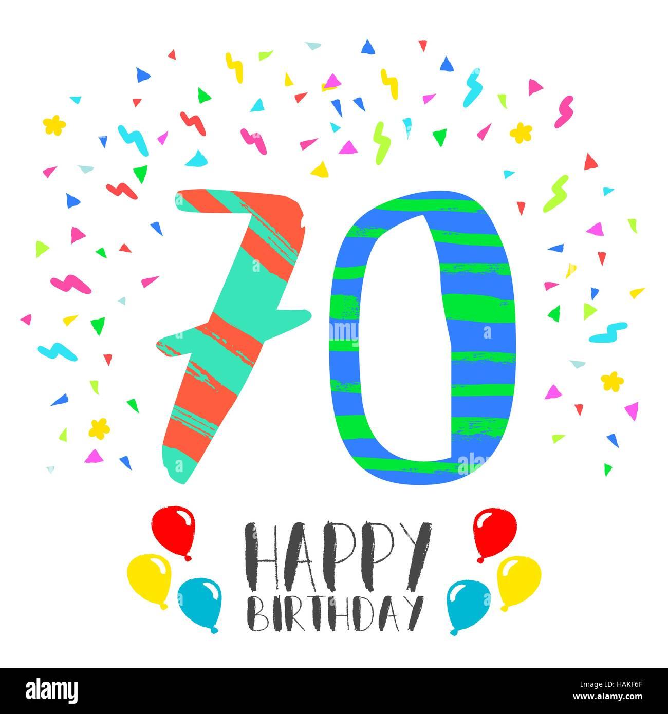 Happy 70 Year Birthday Stock Photos Happy 70 Year Birthday Stock