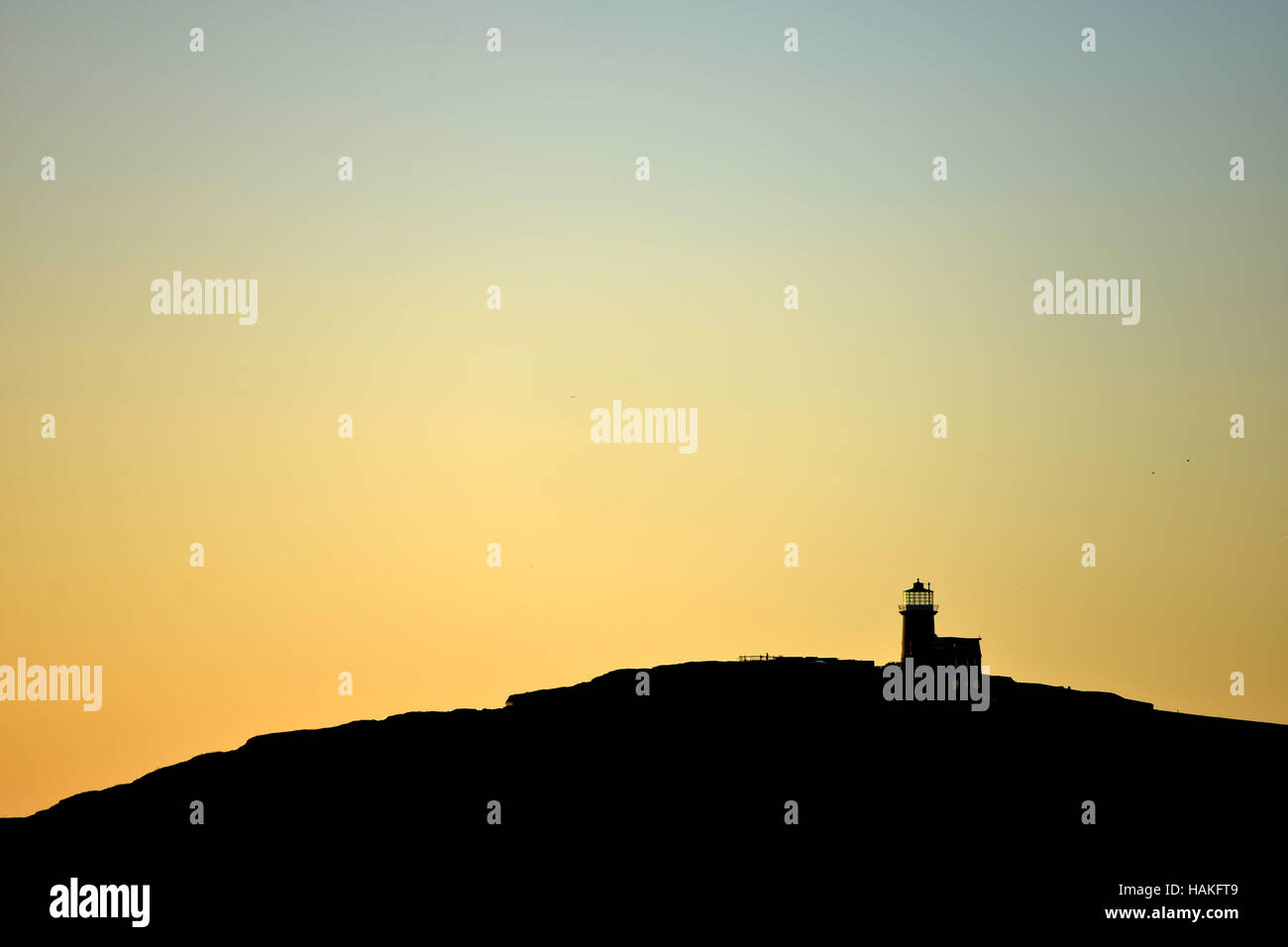 Belle Tout lighthouse, near to Beachy Head, on the chalk cliffs of the South Downs National Park. - Stock Image