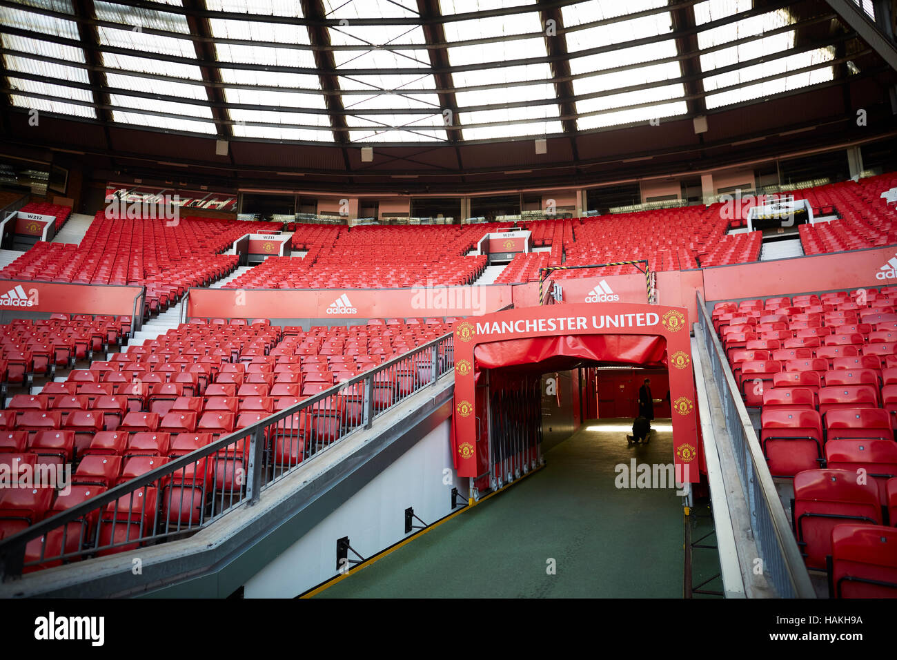 Manchester United Stadium Tunnel Job Staff Soccer Football