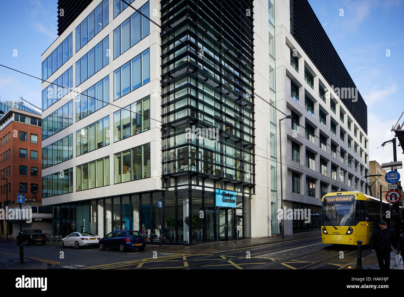 manchester office modern city centre   Office space development developed let to small medium large business businesses - Stock Image